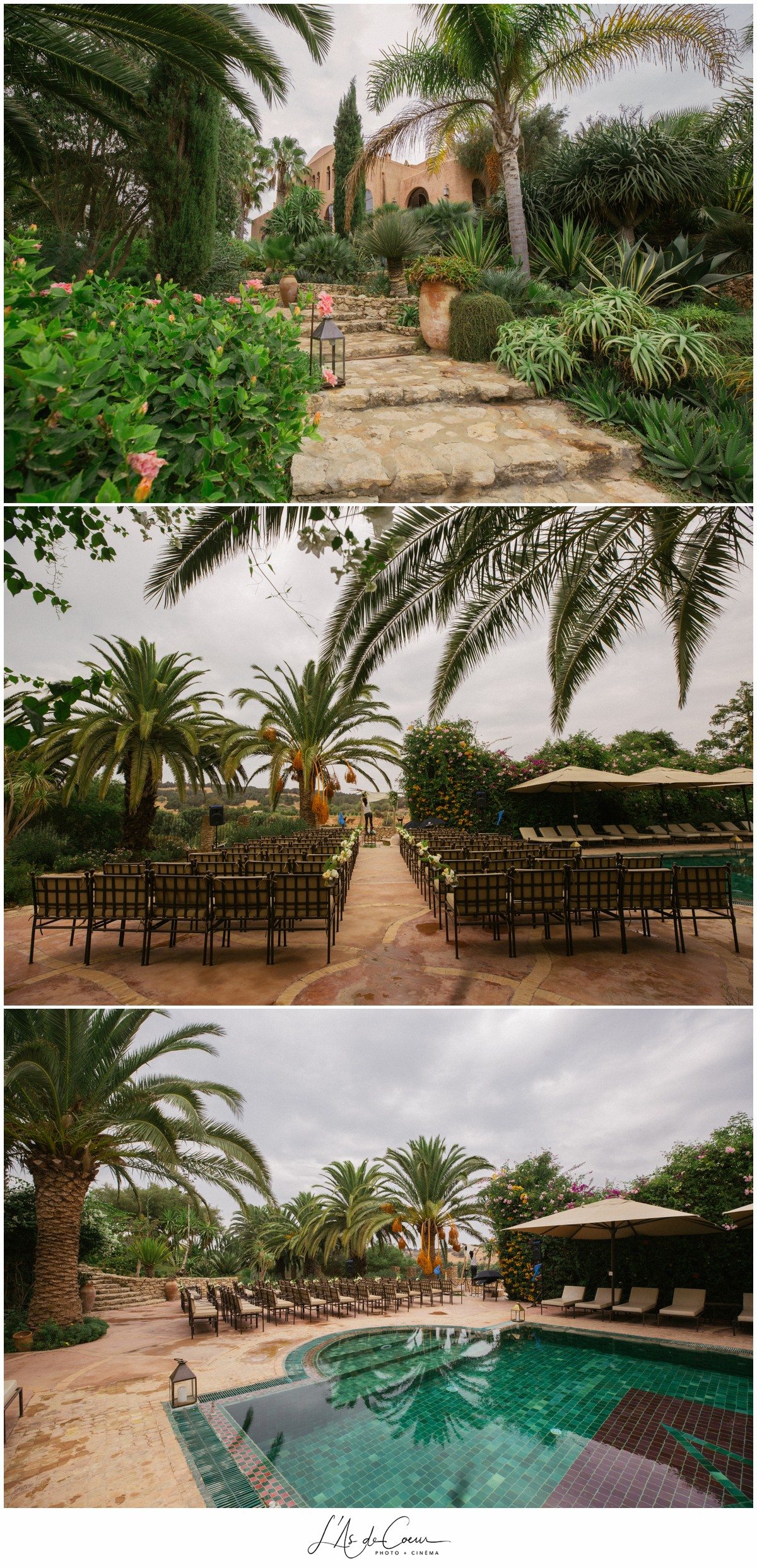 Ceremonie Mariage extérieur Essaouira le Jardin des Douars Maroc ©lasdecoeurphoto