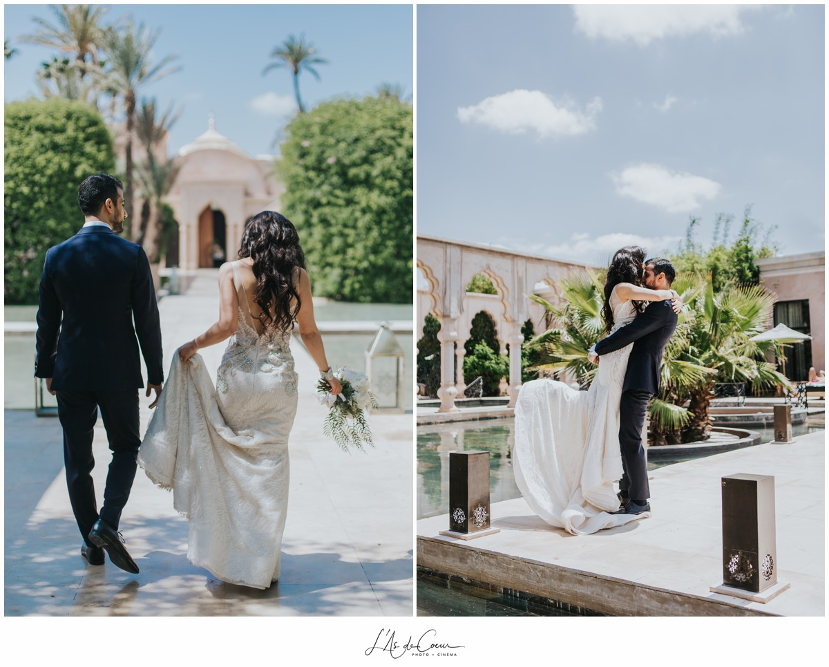 Photo couple mariage Palais Namaskar Maroc Marrakech
