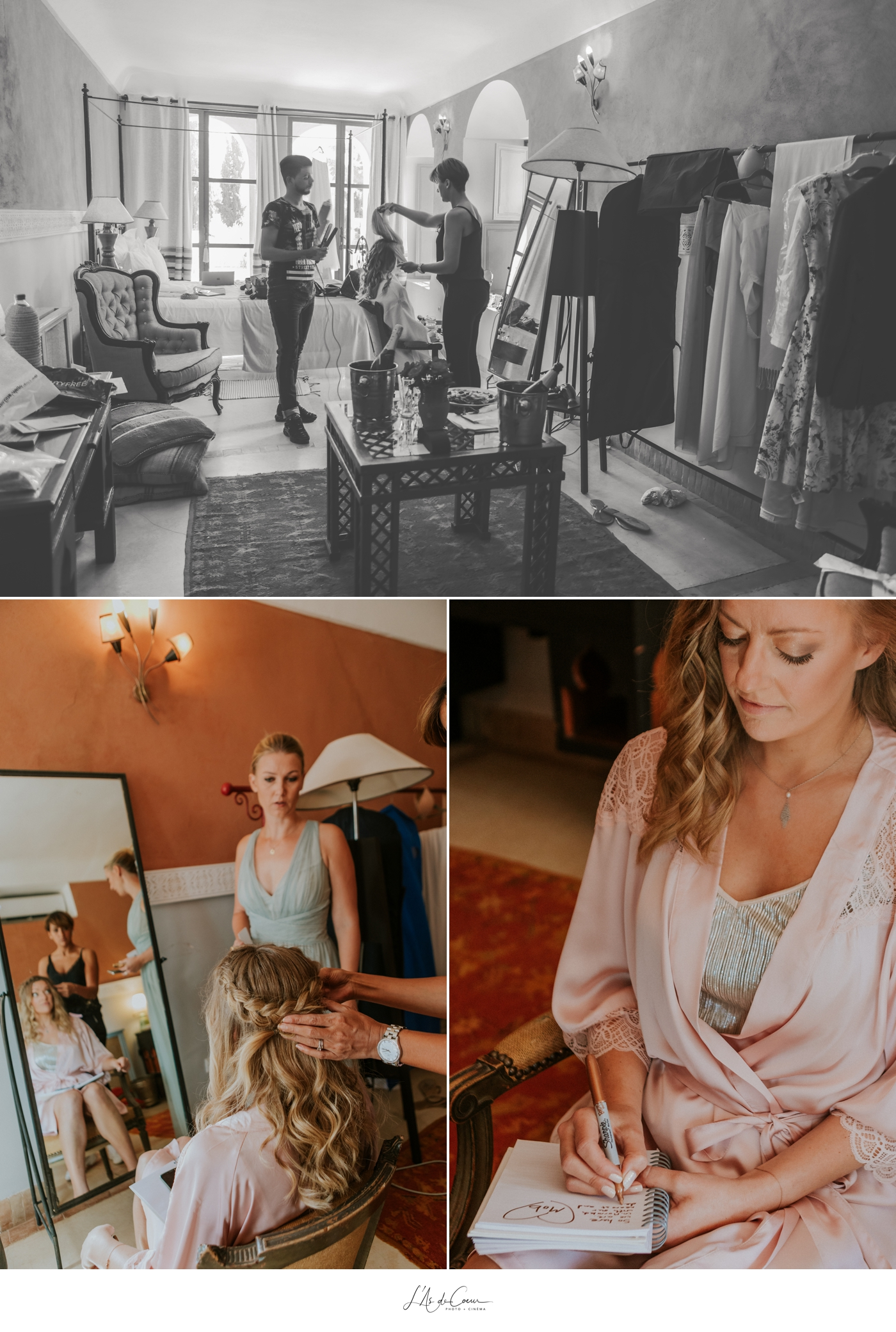 Bride prep Beldi Country Club