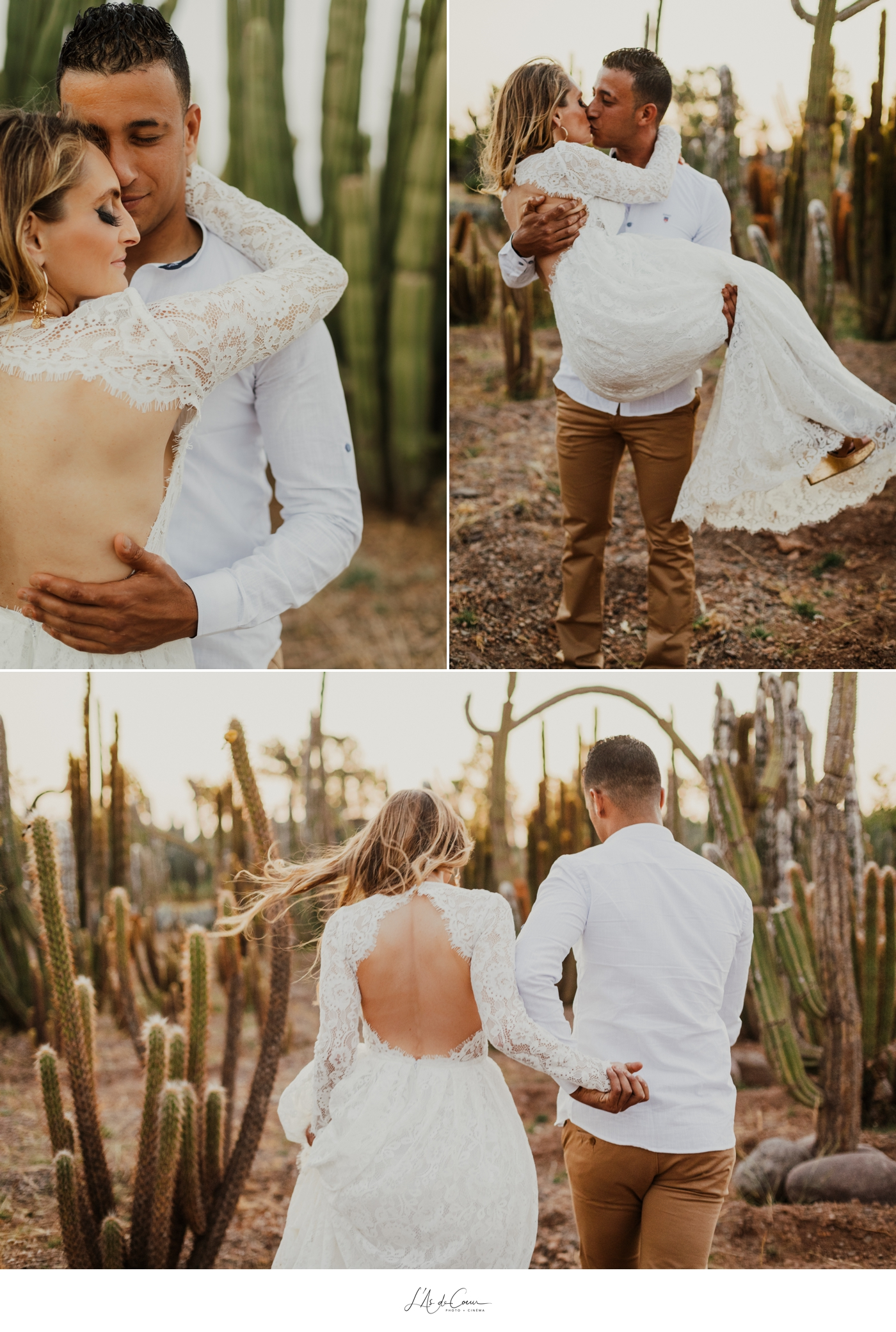 Engagement session cactus garden Marrakech