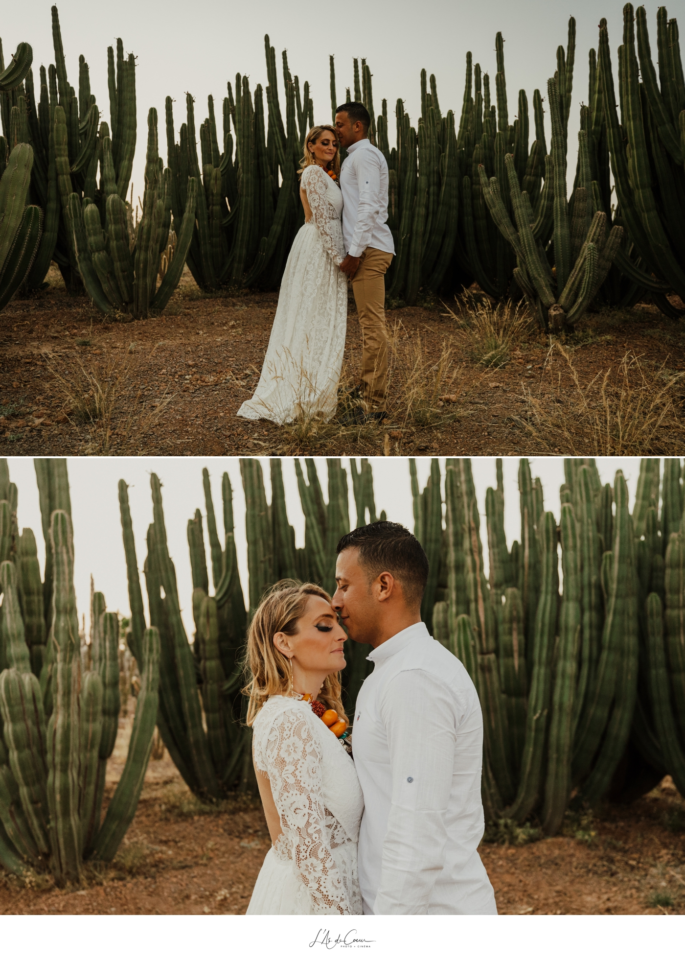 Engagement session cactus garden Marrakech