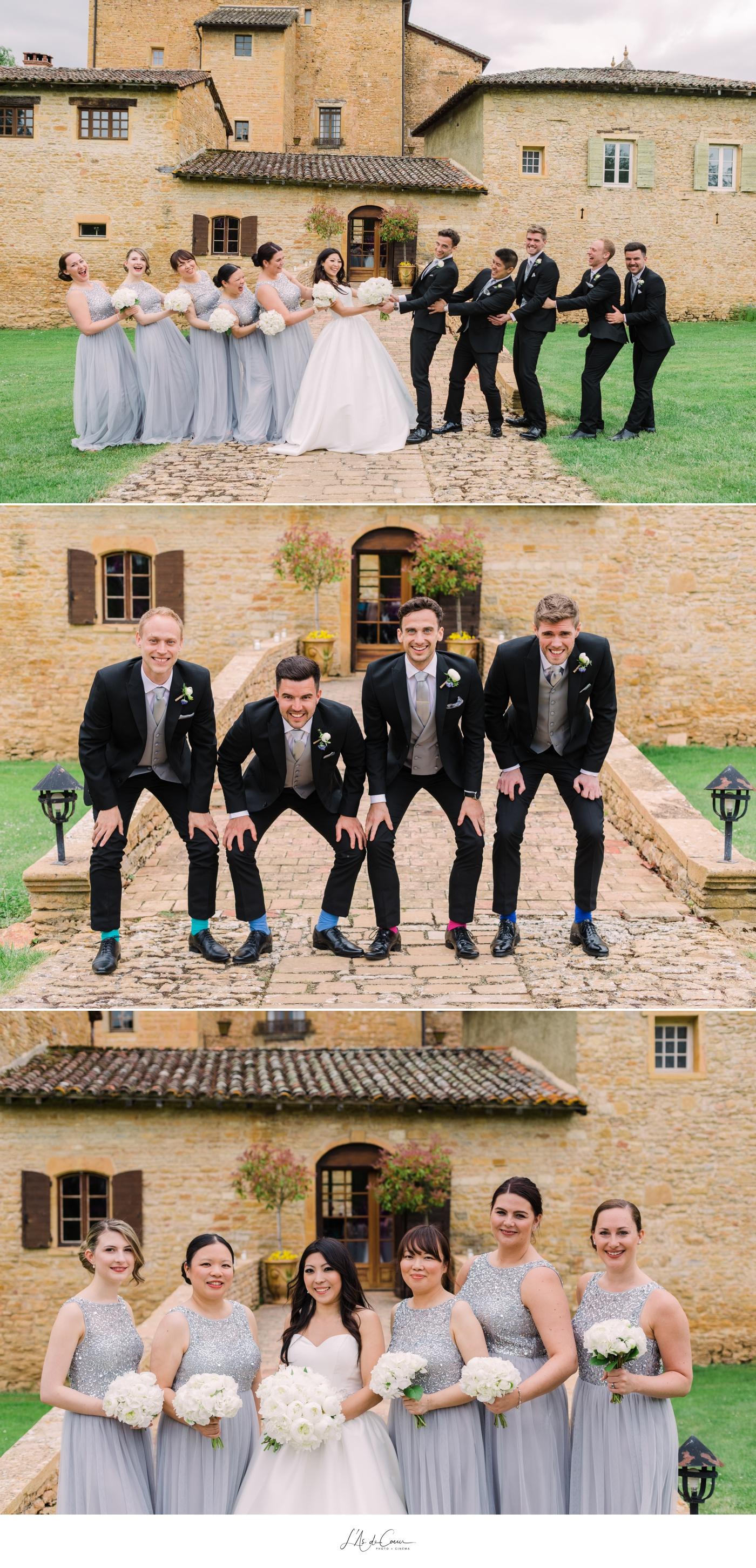 Photo de groupe mariage Beaujolais