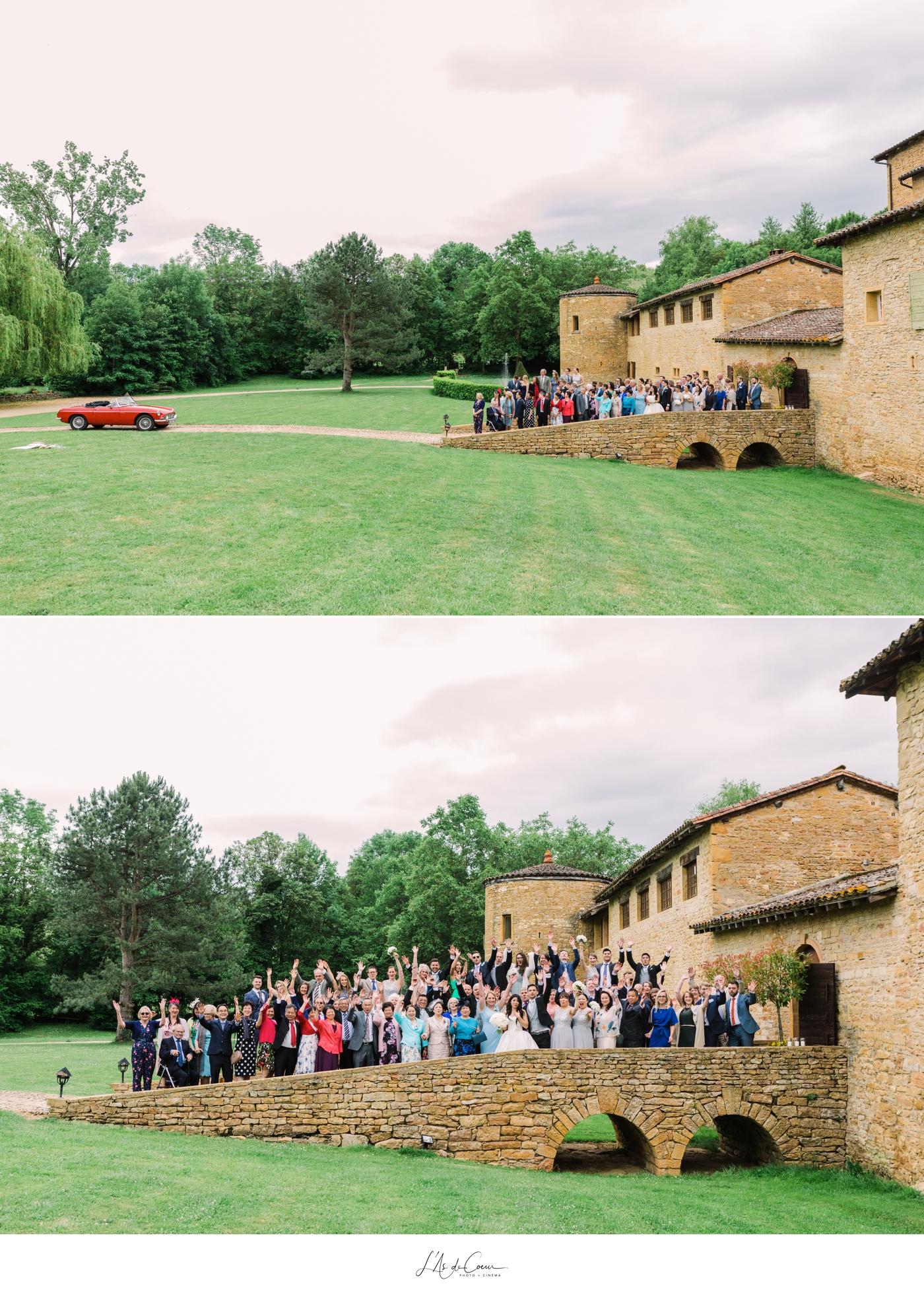 Photo de famille mariage Beaujolais