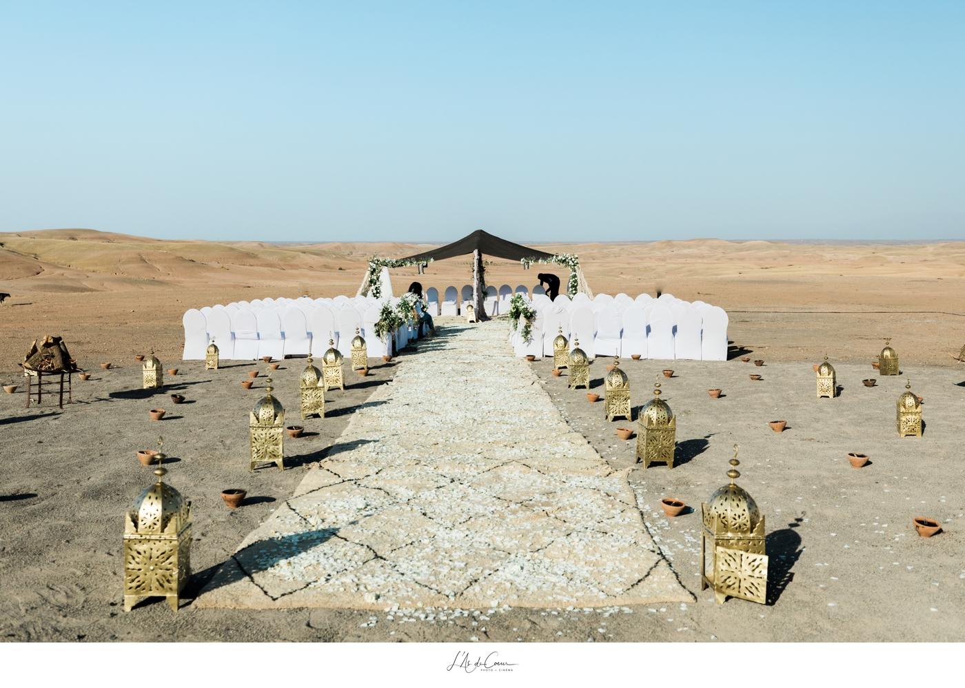 Mariage désert Marrakech