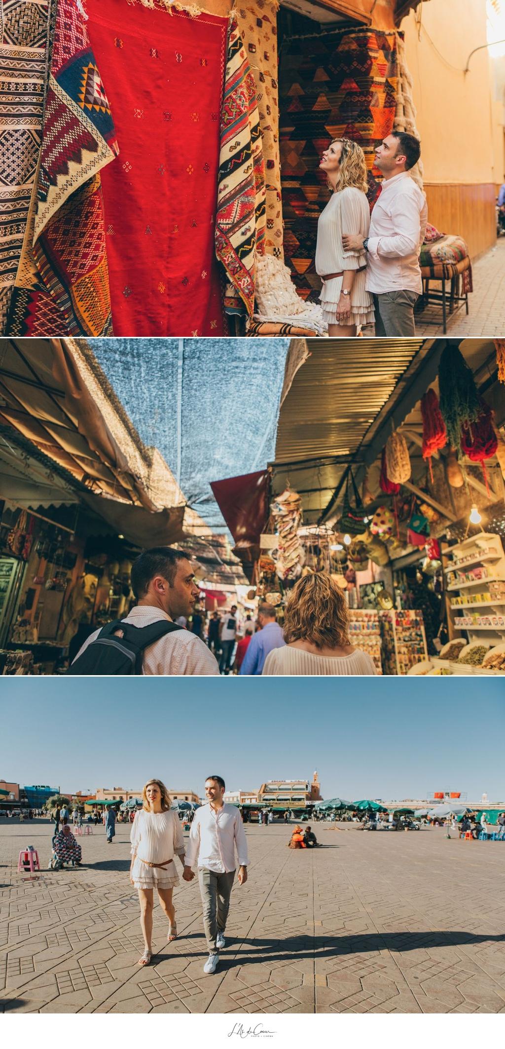 Photo de couple Souk Marrakech