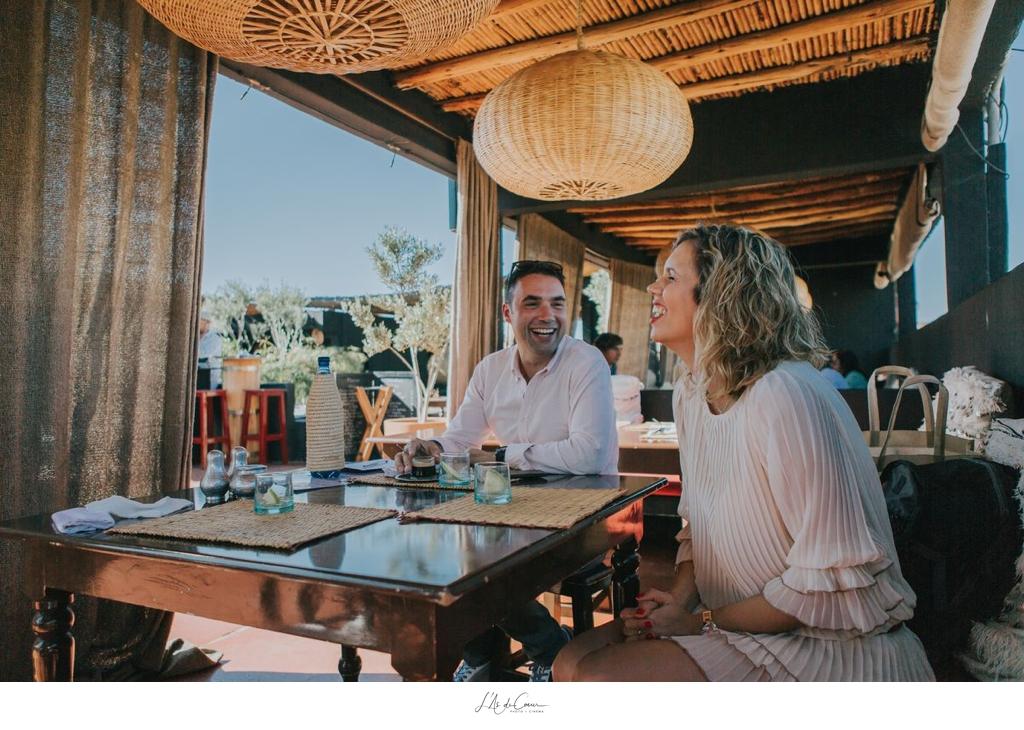 photo couple Terrasse des épices Marrakech