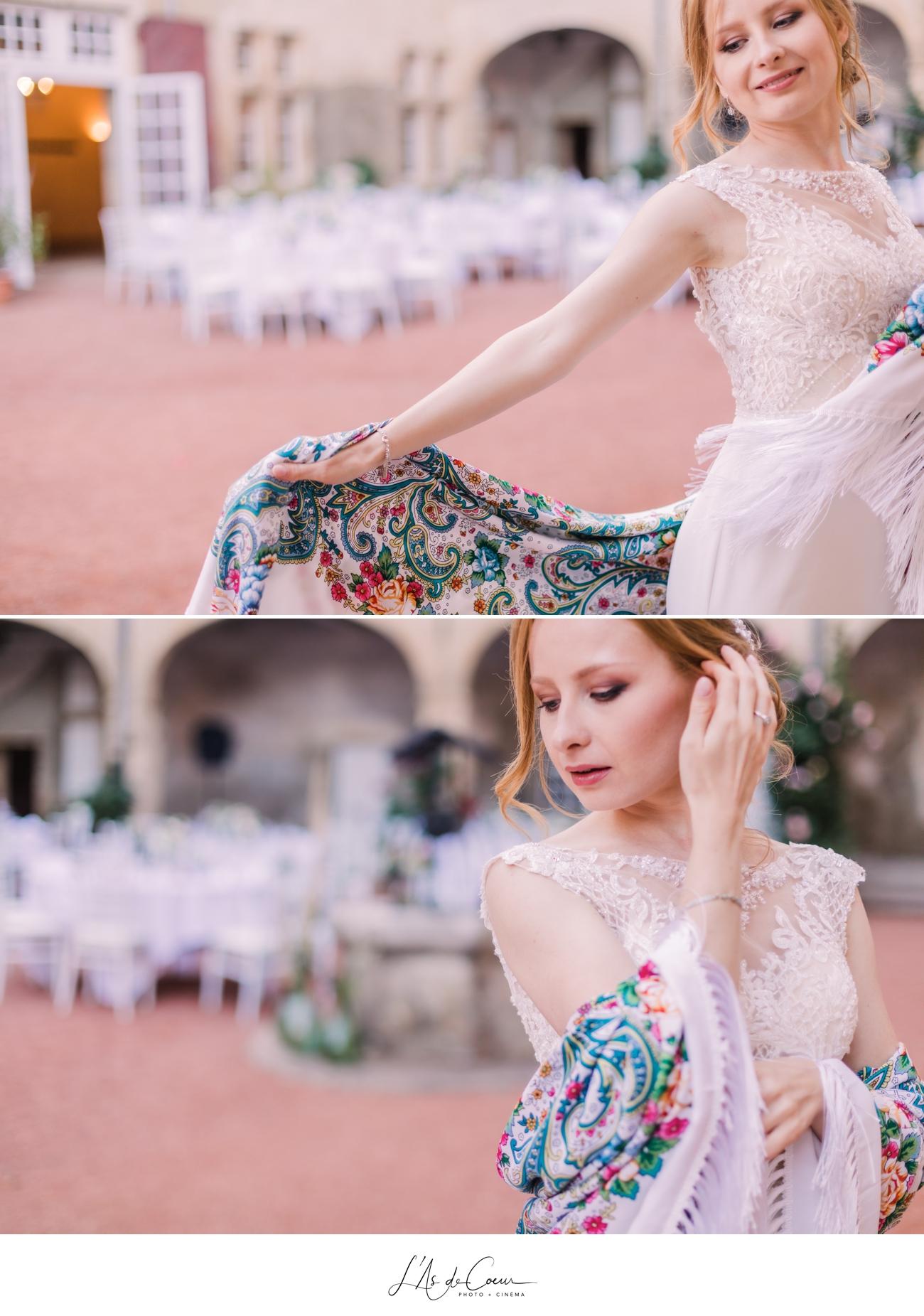 photos mariée rousse danse