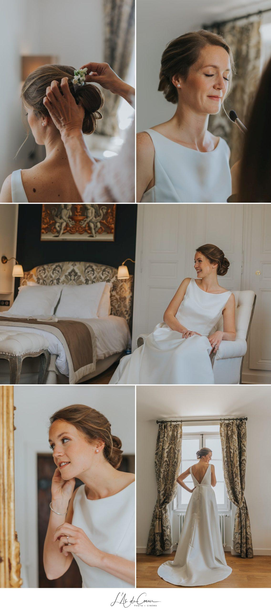 préparatifs mariée romantique Domaine de Morgon la javenrière photographe mariage lyon Beaujolais L'As de Coeur