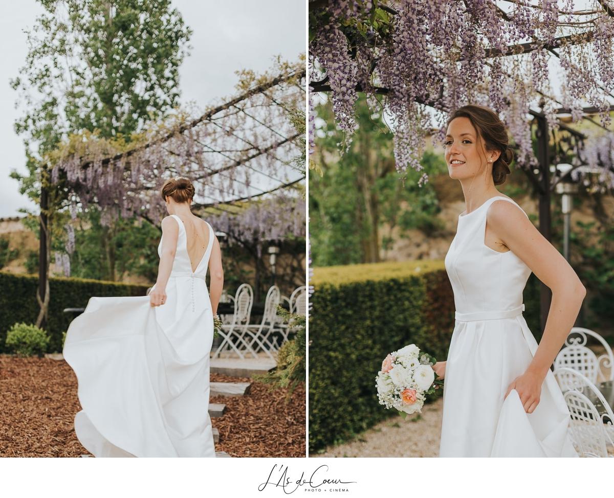 photos couple portraits printemps Domaine de Morgon la javenrière photographe mariage lyon Beaujolais L'As de Coeur