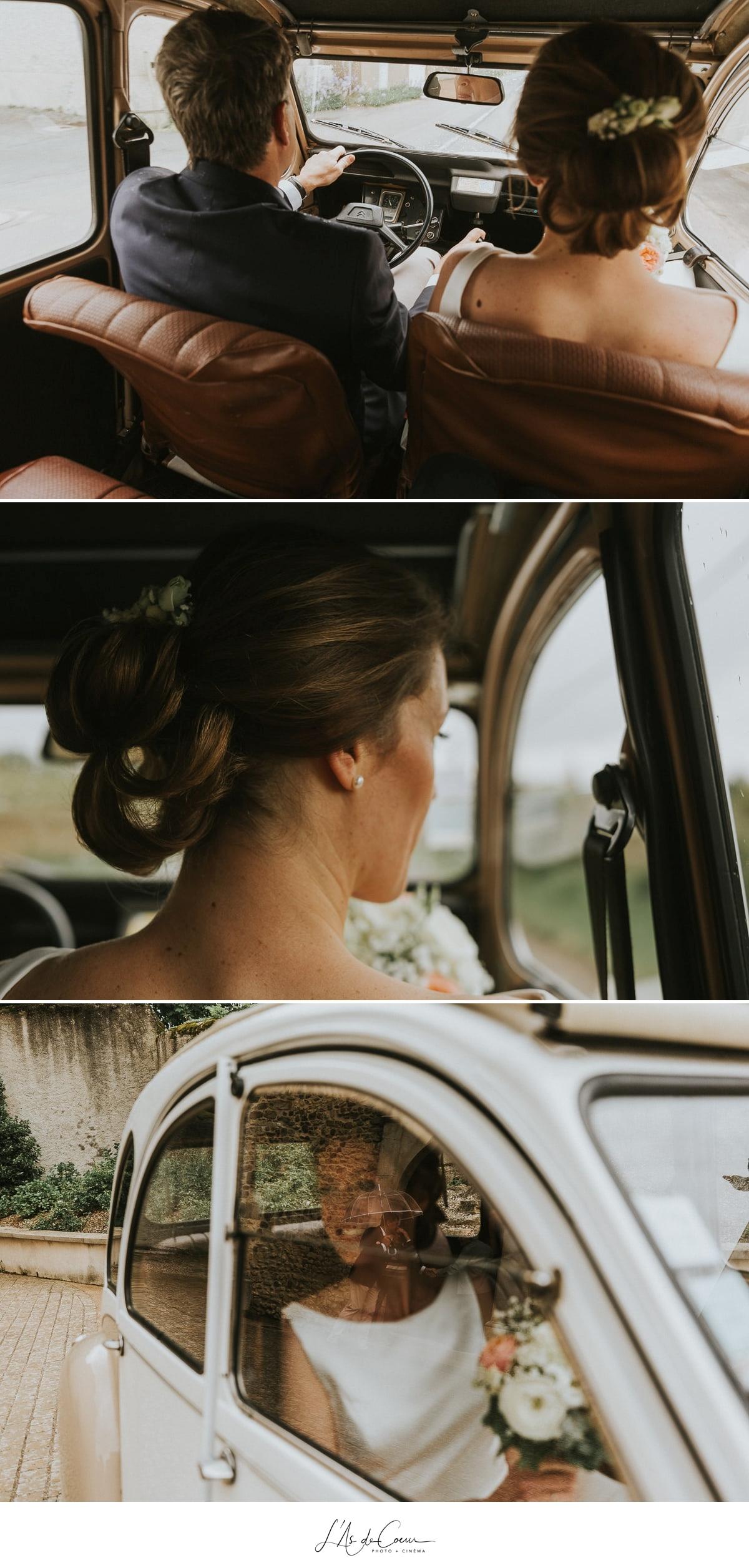 photos 2CV voiture vintage Domaine de Morgon la javenrière photographe mariage lyon Beaujolais L'As de Coeur