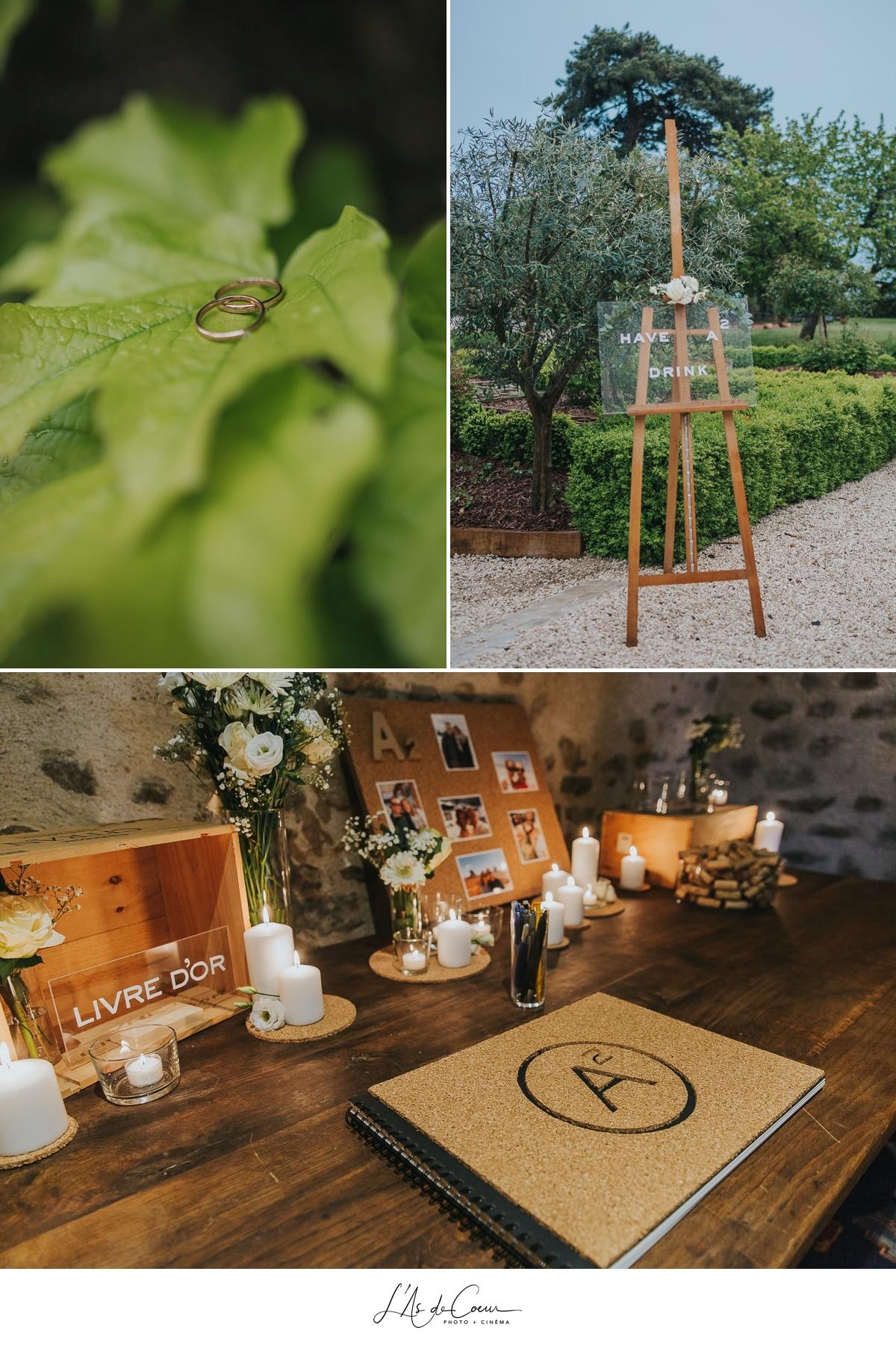 details deco Domaine de Morgon la javernière photographe mariage lyon Beaujolais L'As de Coeur