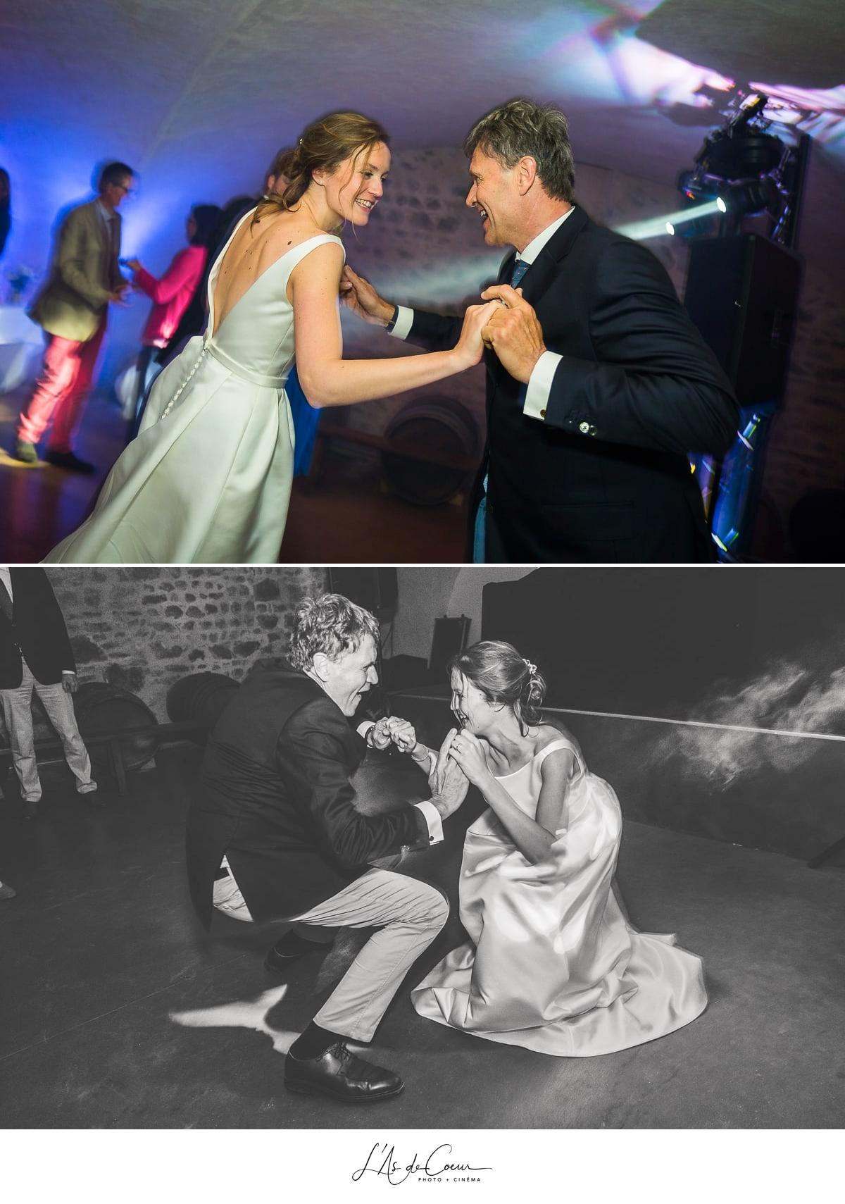 danse père mariée photo mariage Domaine de Morgon la javernière photographe mariage lyon Beaujolais L'As de Coeur