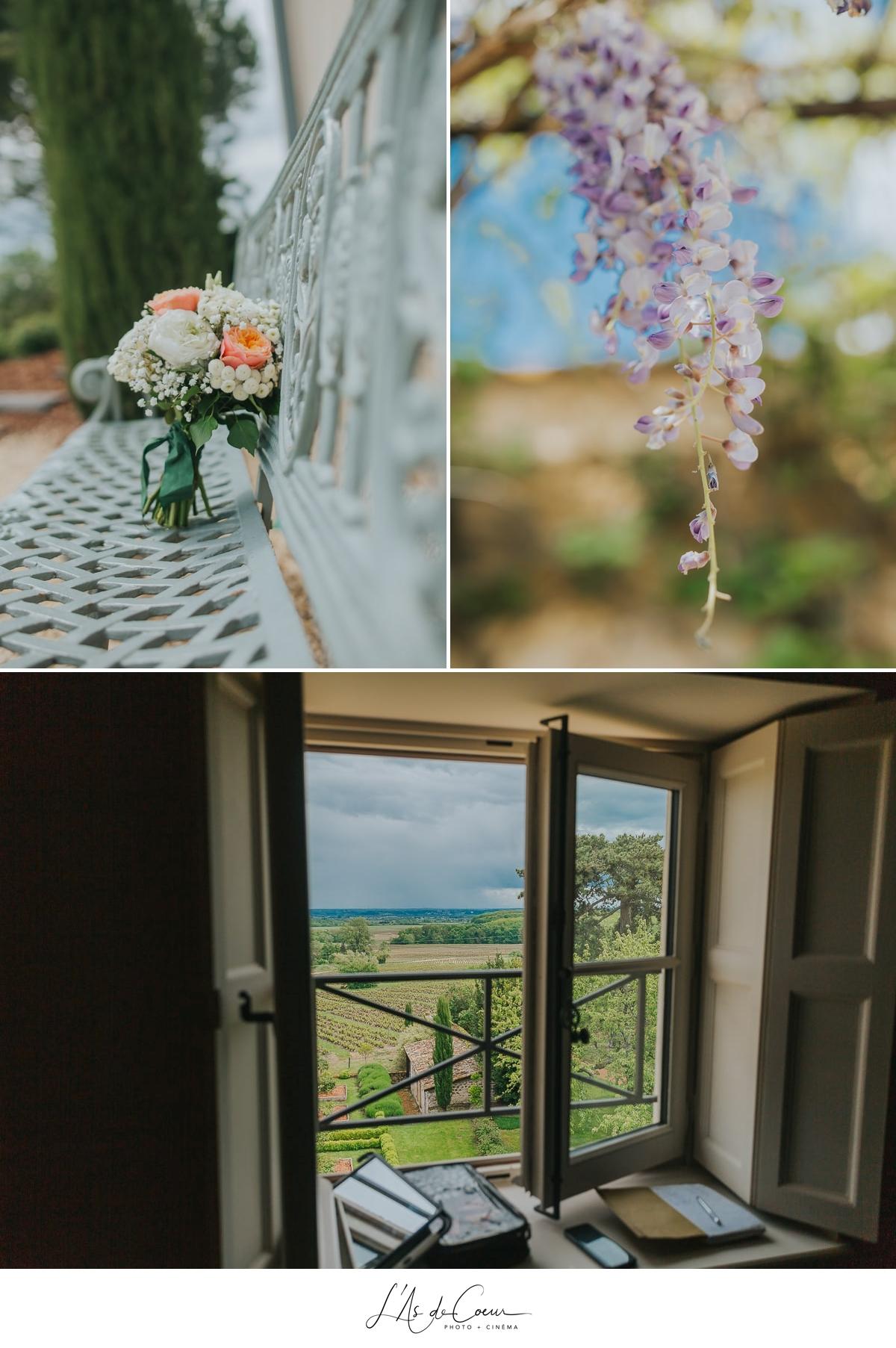 jardins printemps Beaujolais Domaine de Morgon La Javernière photographe mariage lyon L'As de Coeur