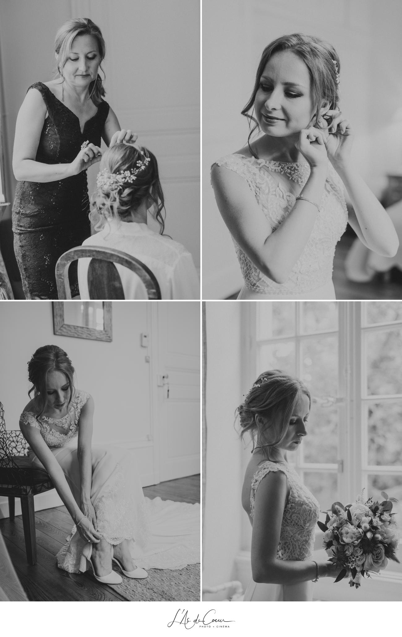 préparatifs mariage Chateau de Varennes