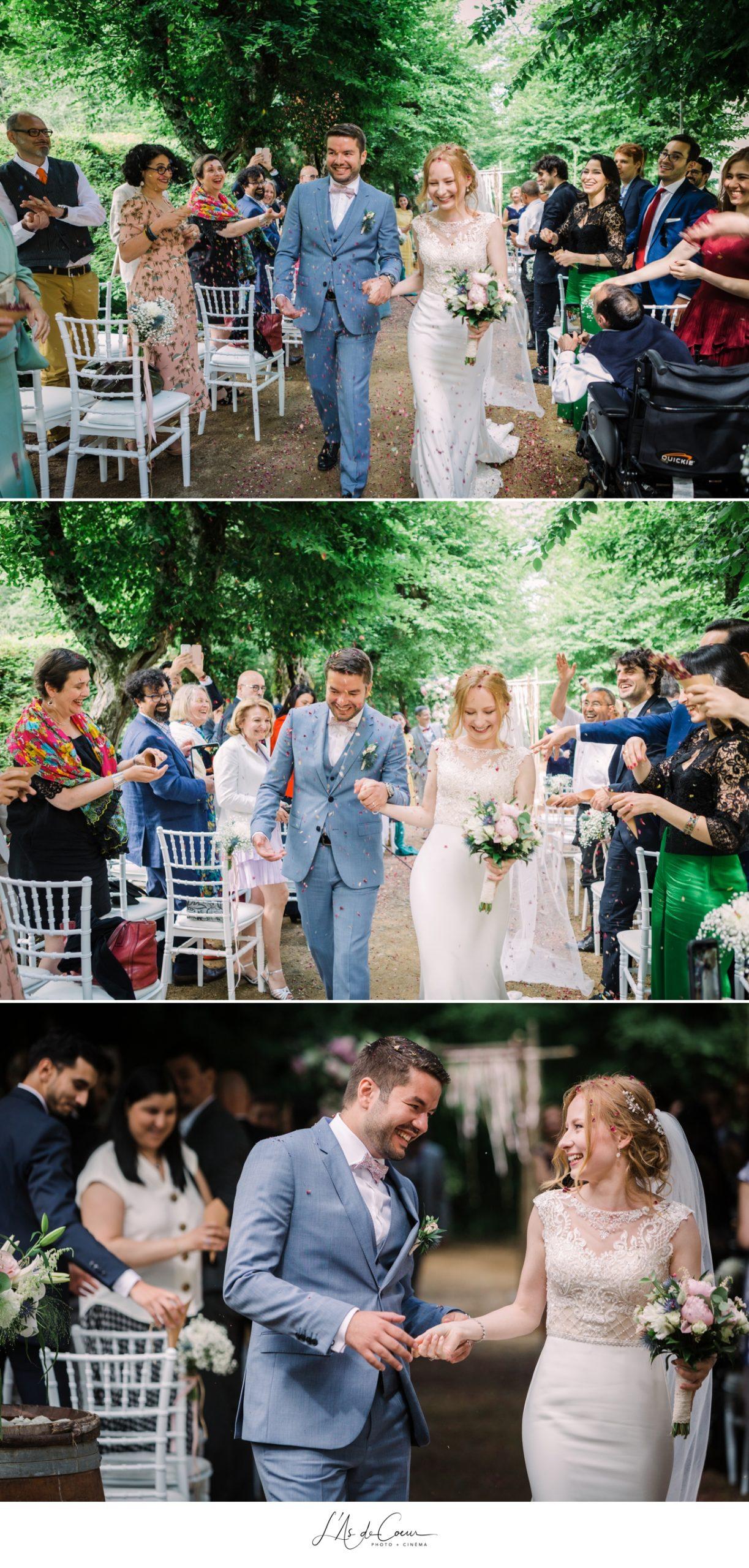 sortie des mariés cérémonie laïque boheme