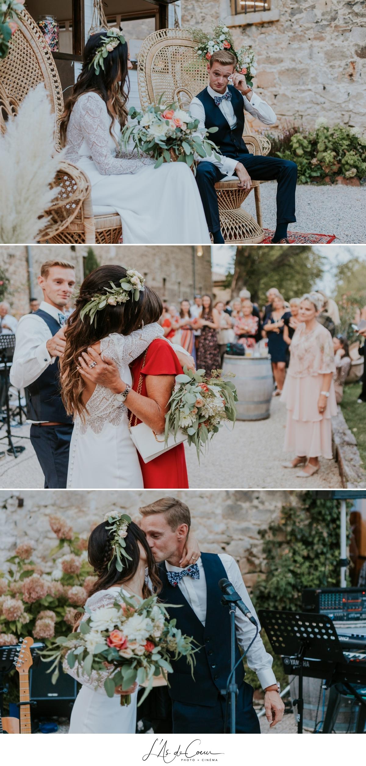 Mariage bohème discours château de la Gallée photographe Mariage Lyon ©lasdecoeur