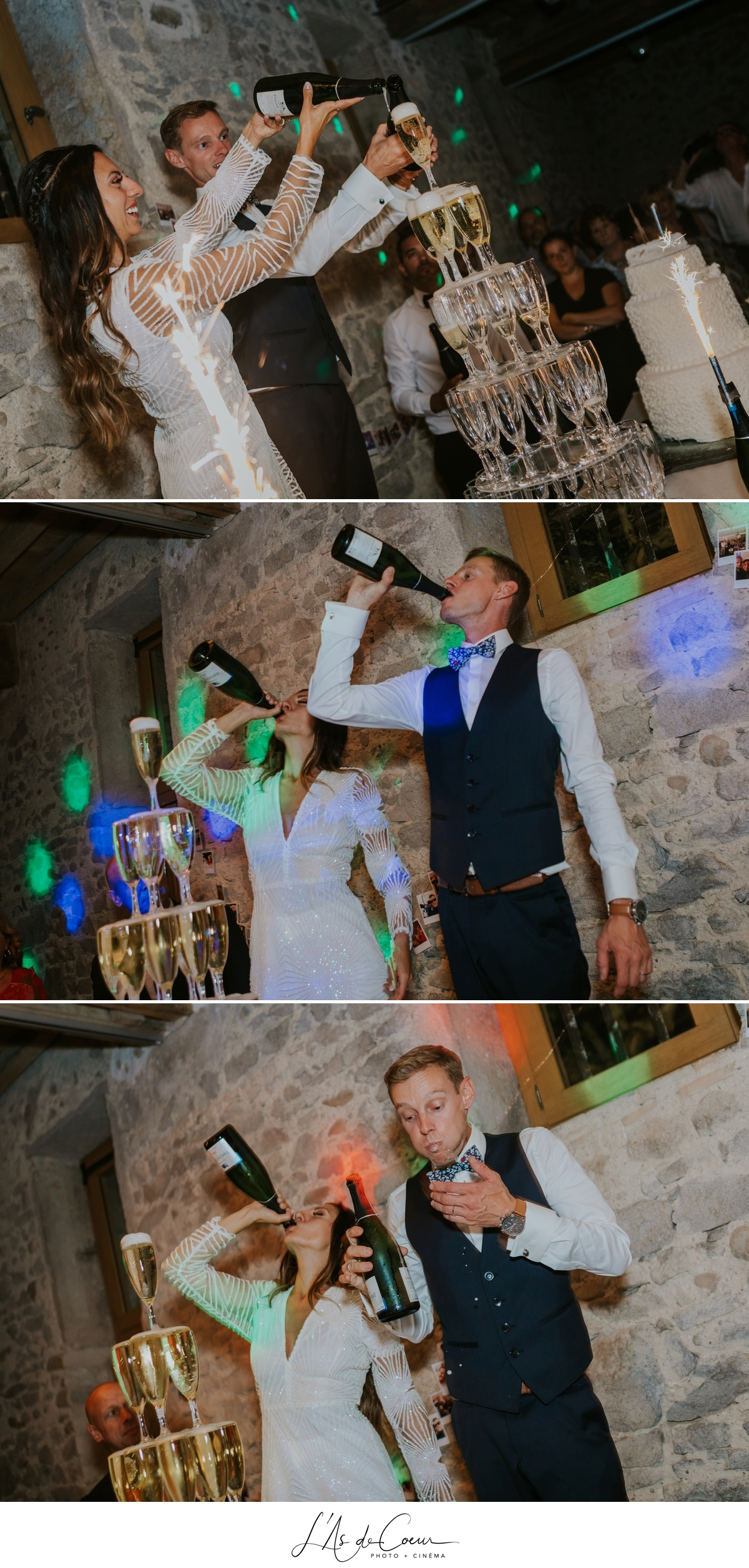 champagne Mariage bohème château de la Gallée photographe Mariage Lyon ©lasdecoeur