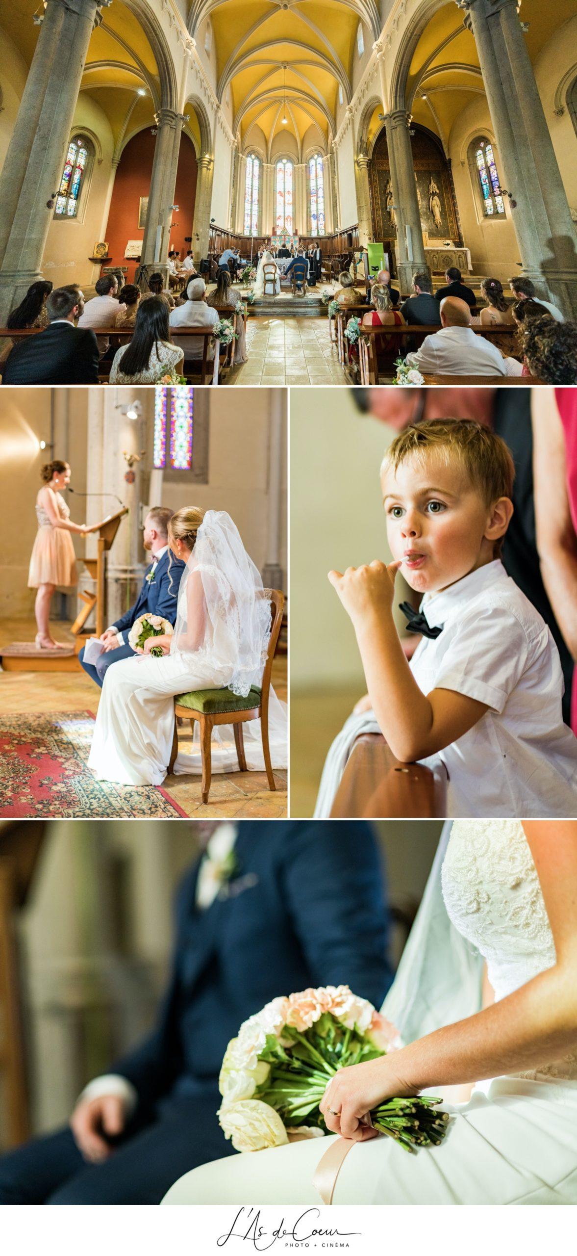 Cérémonie église religieuse détails enfants Lyon