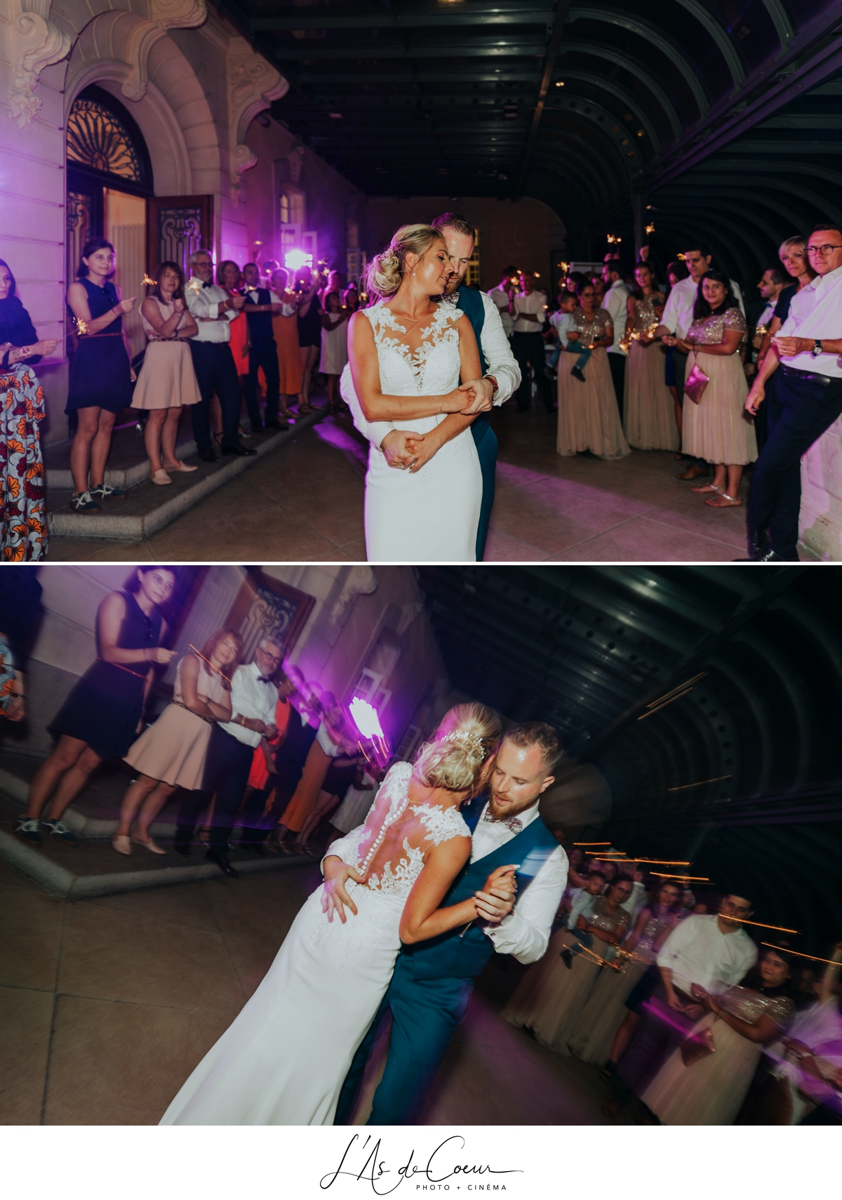 Première danse ouverture de bal romantique château de Rajat mariage Lyon