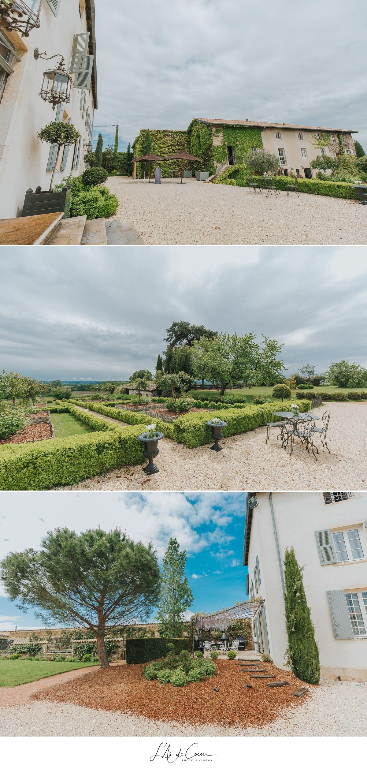 jardins Domaine de Morgon La Javernière photographe mariage lyon L'As de Coeur