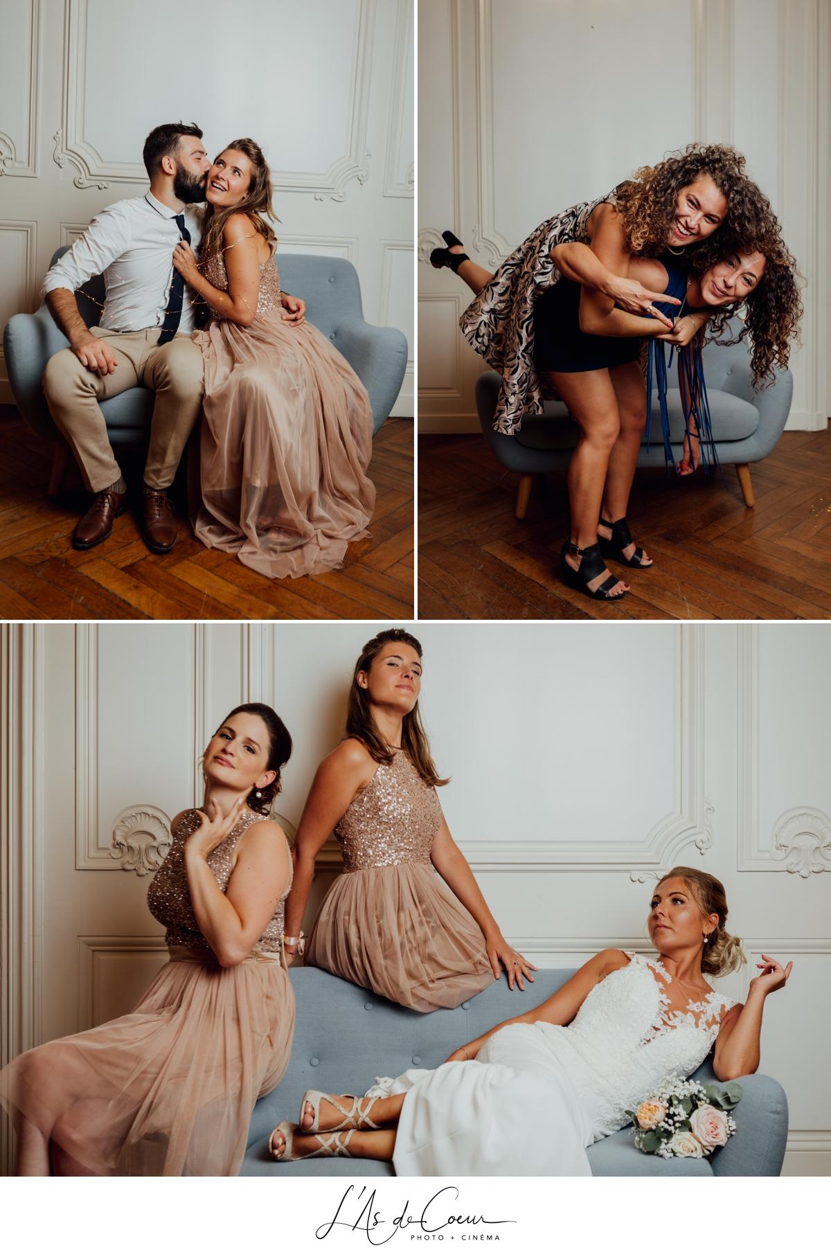 Photocall studio photo mariage animation soirée originale chateau de Rajat Lyon